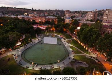 Evening Yerevan City, Capital of Armenia
