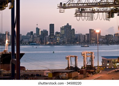evening/twilight container cargo operation - Durban South Africa (no trademarks visible)