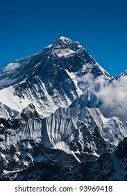 Everest Mountain Peak or Sagarmatha with 8848 m height