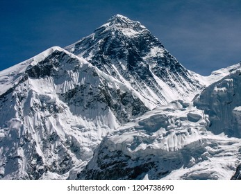 Everest Nepal September 30, 2018 View of the landscape and the path to Everest Base camp in Nepal