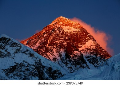 Everest in the sunset