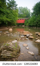 The Everett red covered bridge in Ohio's only Naitonal Park.