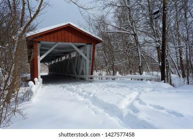 Everett Road Covered Bridge At  Cuyahoga National Park
