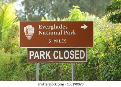 EVERGLADES NATIONAL PARK, FLORIDA - OCTOBER 10: Everglades National Park was closed by the government shutdown on October 10, 2013.