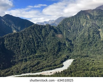 Evergreen mountains at Franz Josef Glacier, New Zealand