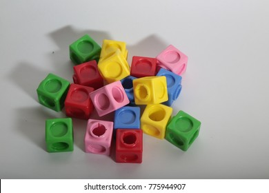 every color all kinds of cubes and children's toys