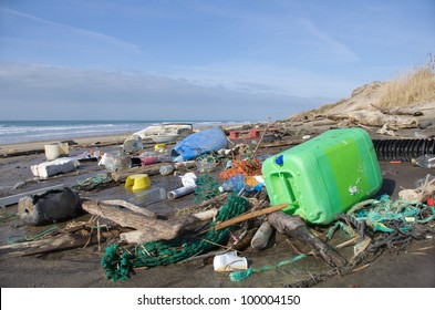 Every day, waste accumulates on the beach of Atlantic west coast, they arrive from Spain with ocean currents effect.