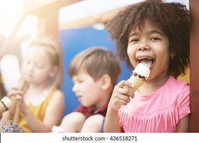 Every kid likes ice cream
