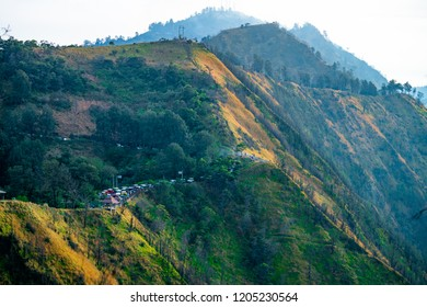 Every morning tourist go to Kingkong with Jeep to viewpoint for scenic Bromo and trafic jam every weeken.
