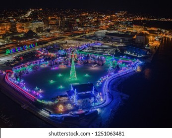Every Year there is a Holiday Light Display in Duluth, Minnesota