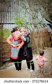 Everyday life of Sapa village, Northern Vietnam, 26th of December 2012