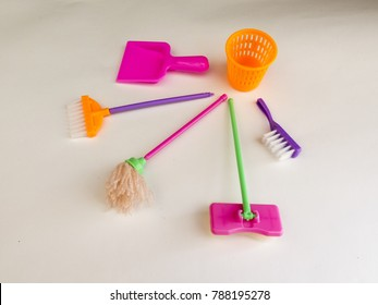 Everything for cleaning in the nursery - MOP, broom, dustpan