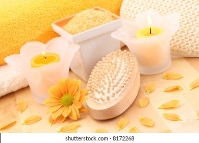 everything you need to have some relax - flowers and cosmetics