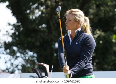 EVIAN GOLF COURSE, FRANCE - JULY 26 : Suzann Pettersen (SWE) at The Evian Masters golf tournament (LPGA Tour), July 26, 2012 at The Evian golf course, Evian,  France.