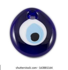 "Evil eye amulet, the blue eye also known as ""Nazar Boncugu"""