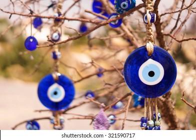 Evil eye bad on tree