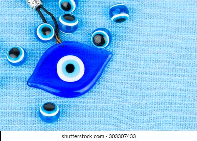 Evil eye bead - Stock image macro.