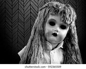 Evil eyeless doll