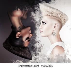 evil and good beautiful women