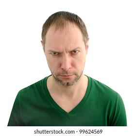 Evil man face