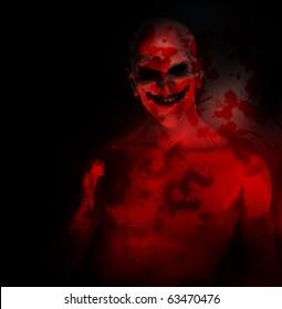 An evil psychotic clown
