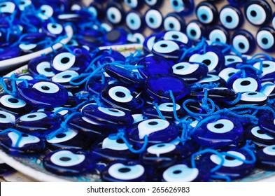 Evil-eye amulets at turkish bazaar