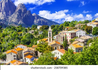 Evisa -pictorial mountain village in Corsica