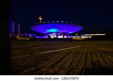 The Evoluon is a conference centre and former science museum erected by the electronics and electrical company Philips at Eindhoven in the Netherlands. Eindhoven - Netherlands 27 sept 2016