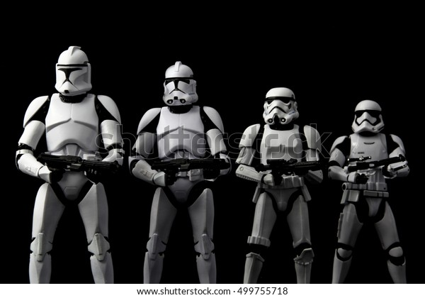 Evolution Concept Star Wars Clone Trooper Stock Photo (Edit