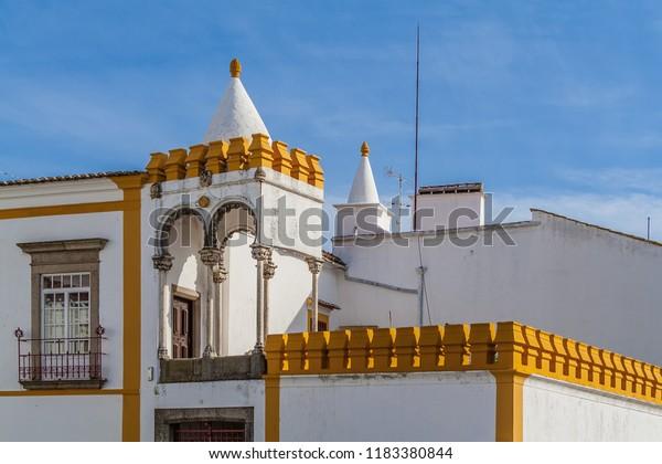 Evora Portugal Balcony Veranda Casa Cordovil Stock Photo Edit Now 1183380844