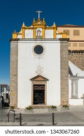 EVORA, PORTUGAL - CIRCA MARCH 2019: Church of the old Convento do Salvador in Evora. Evora is a pleasant medium-sized city and has numerous monuments.