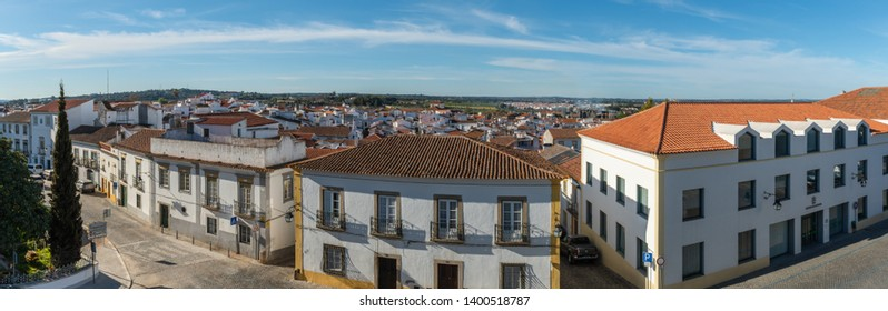 EVORA, PORTUGAL - CIRCA MARCH 2019: Garden Of Diane Lookout With View To The City In Evora.