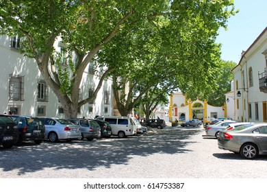 EVORA, PORTUGAL - May 9, 2014: The historic centre of Evora, a World Heritage Site since 1986.
