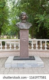 Evpatoria, Crimea, Russia - June 29, 2018: Monument to the Russian writer Nikolai Vasilyevich Gogol in the city of Evpatoria, Crimea