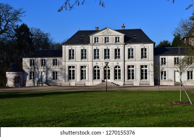 Evreux; France - january 17 2017 : the Trangis castle built in 1750