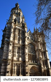 Evreux; France - january 17 2017 : the gothic Notre Dame cathedral