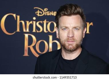 Ewan McGregor at the Los Angeles premiere of 'Christopher Robin' held at the Walt Disney Studios in Burbank, USA on July 30, 2018.