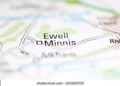 Ewell Minnis. United Kingdom on a geography map