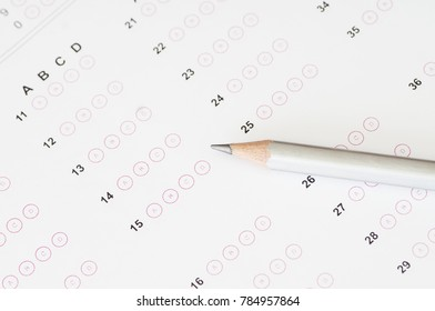 Exam OMR Sheet without answer with pencil