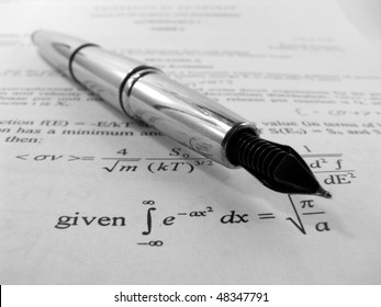 An exam paper with pen