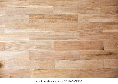 Example of assembled parquet flooring  done with neatness and high precision