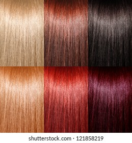 Example of different hair colors
