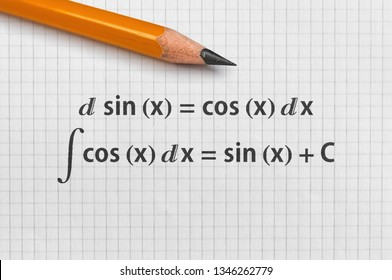 Example of differential and indefinite integral of basic trigonometric functions