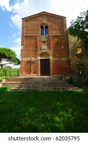 An example of the  medieval architecture in Tuscany