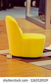 example of model modern armchair, note shallow depth of field