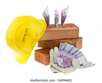 Example picture house construction, financing, building societies. Brick and ?
