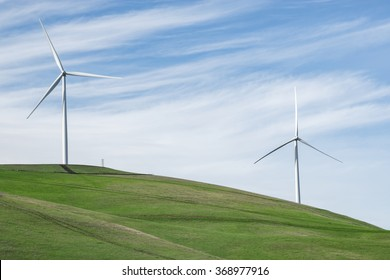 Examples of the modern wind turbines being used to repower the Altamont Wind Resource Area.  Modern replacement turbines should reduce the number of birds killed.