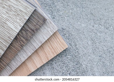 Examples of ready-made vinyl flooring for interior work