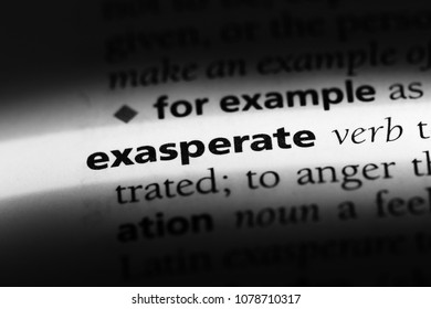 exasperate word in a dictionary. exasperate concept