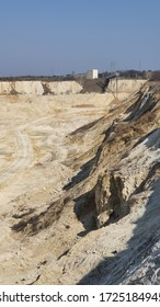 excavation site with sand mine in Poland